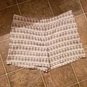 Loft riviera shorts, jacquard tribal metallic